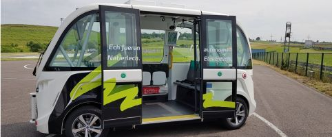 Sales-Lentz inaugurated several autonomous shuttles in Luxembourg