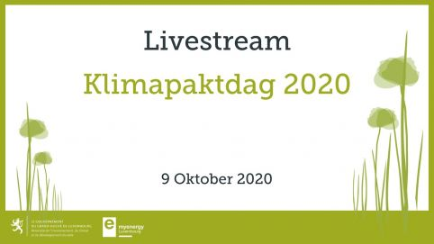 The Klimapaktdag will be virtual this Friday 9th October.