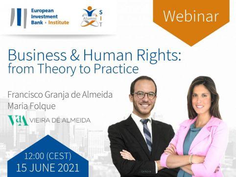 L'Institut de la Banque Européenne d'Investissement organise un webinaire sur les entreprises et les droits de l'homme
