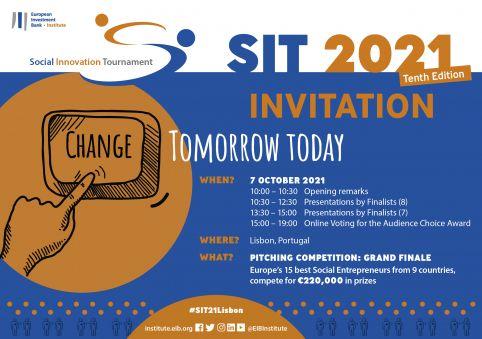 Les 15 meilleurs entrepreneurs sociaux d'Europe présenteront leurs projets lors de la 10e édition du Social Innovation Tournament