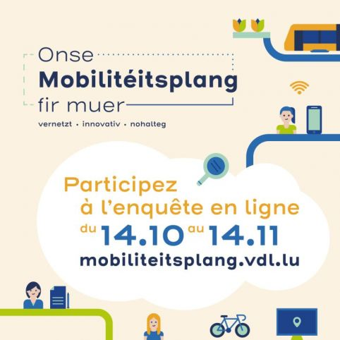 Participez à l'enquête de la Ville de Luxembourg sur la mobilité
