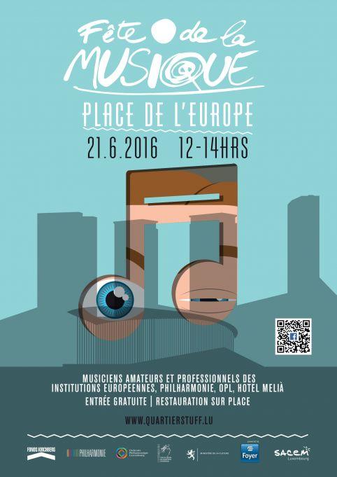 Fête de la musique Place de l'Europe, le 21 juin
