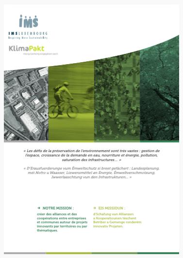 Brochure de présentation Pacte Climat