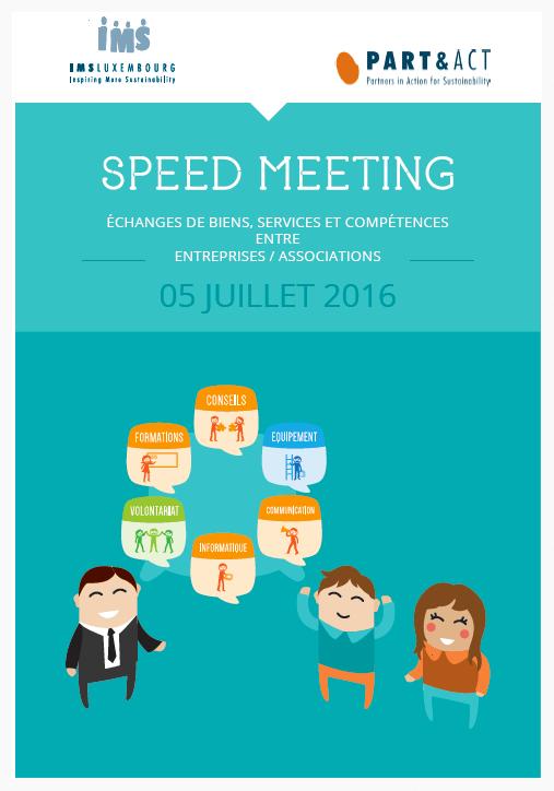 Booklet juillet 2016 Speed Meeting :