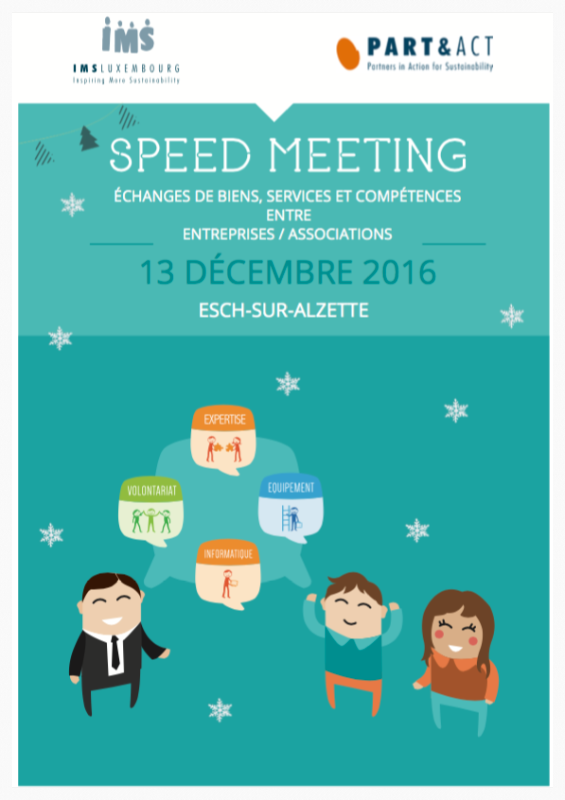 Booklet december 2016 Speed Meeting :