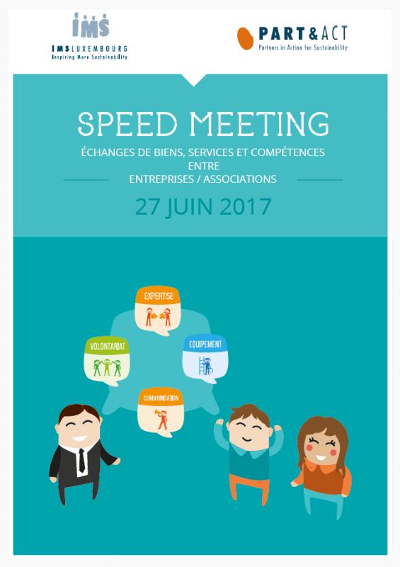 Booklet juin 2017 Speed Meeting :
