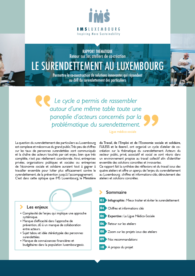 Thematic report : over-indebtedness in Luxembourg