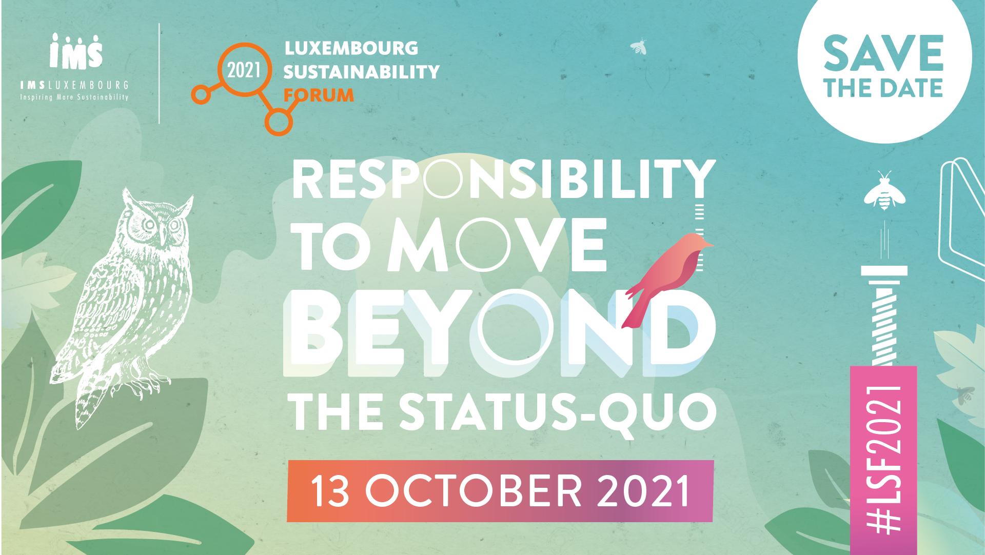 Save the date : le Luxembourg Sustainability Forum 2021 aura lieu le 13 octobre